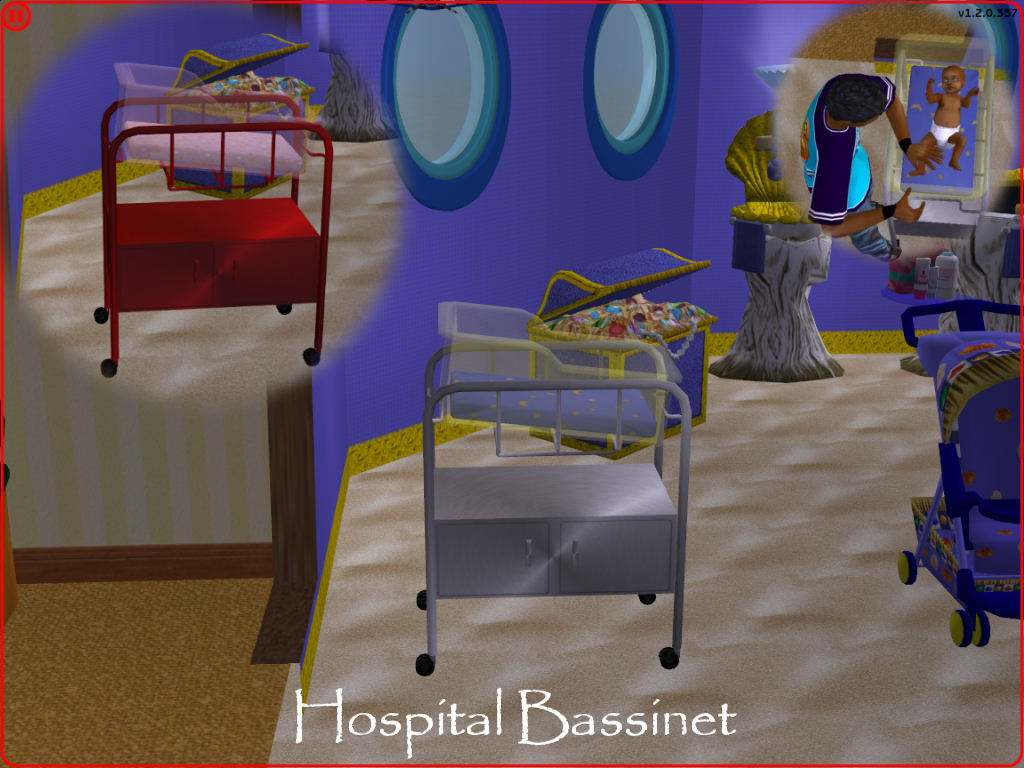 baby items by snowstorm the sims creations mod the sims by request hospital bassinet 55932