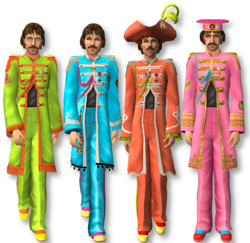 Mod The Sims Sgt Pepper S Lonely Hearts Club Band Collection