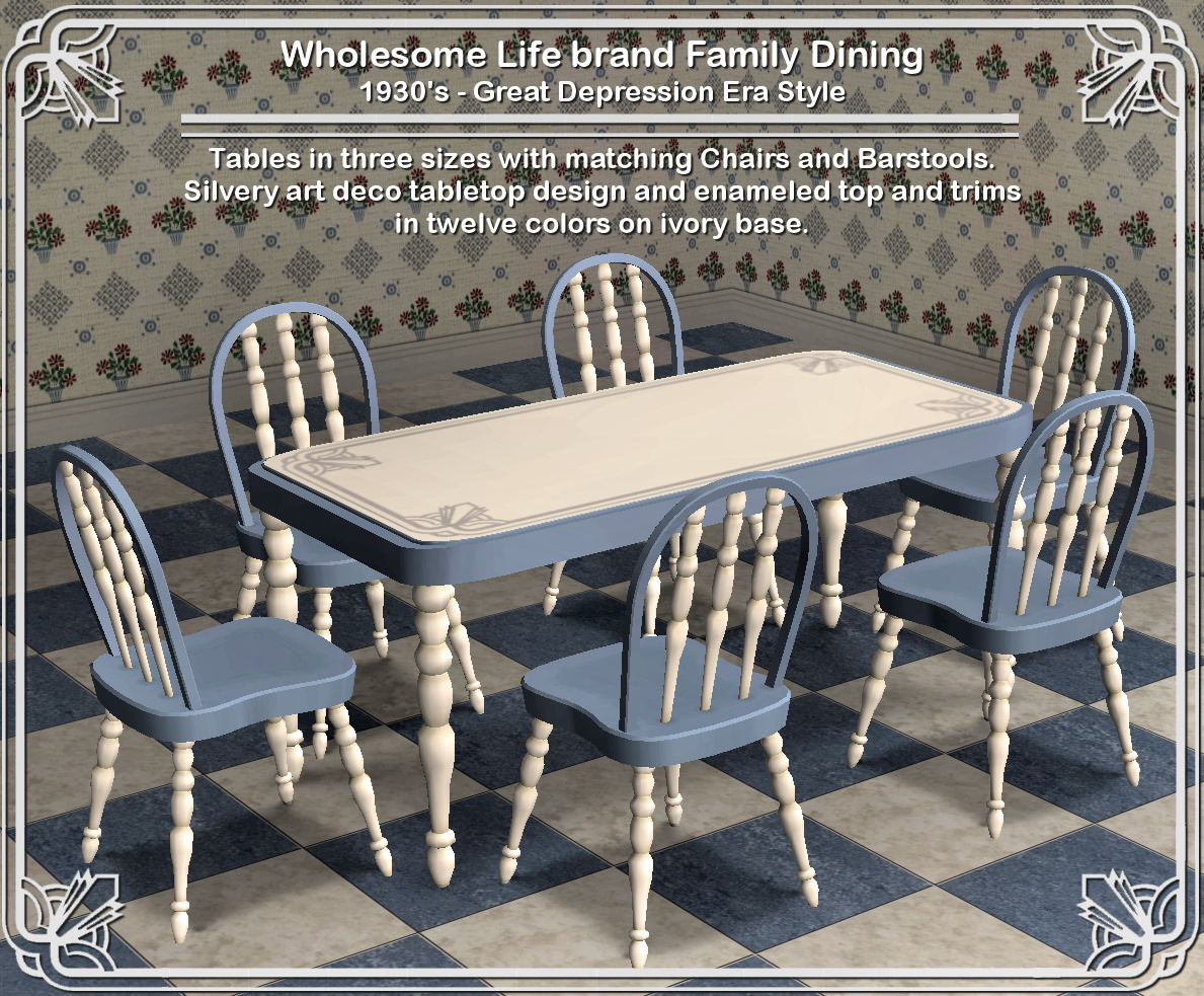 Mod The Sims Wholesome Life Brand Kitchen Tables Chairs And Barstools Set