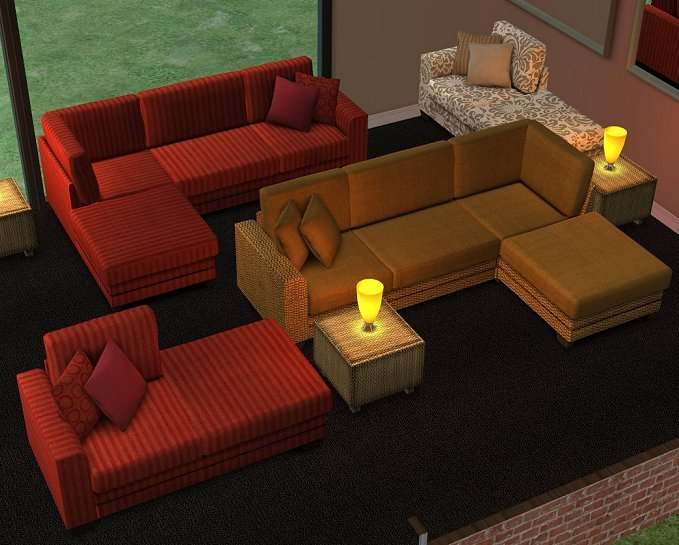 Sims 3 Sectional Sofa Refil