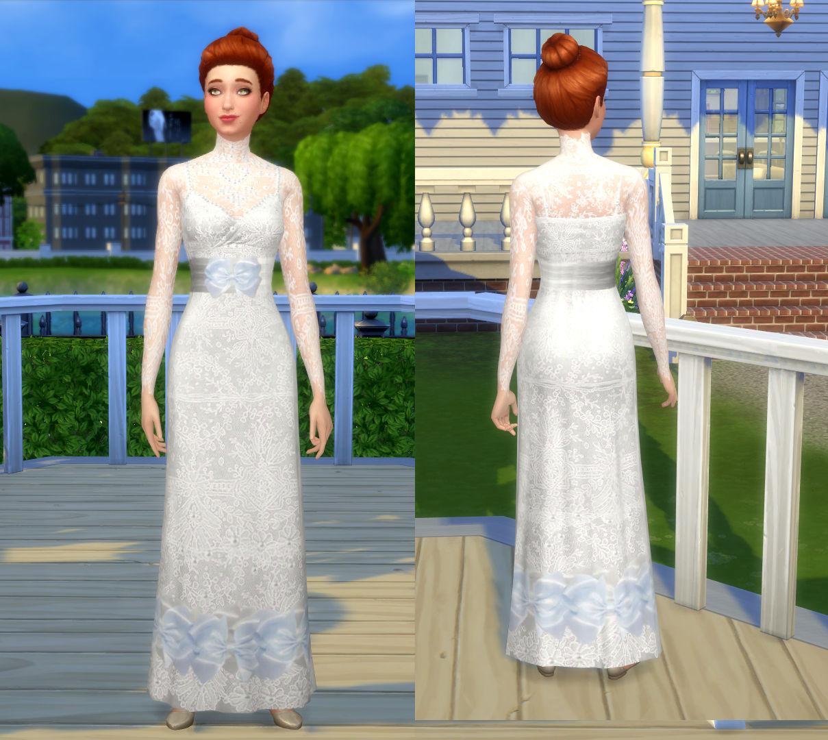 Mod The Sims   Isabella's Wedding Dress