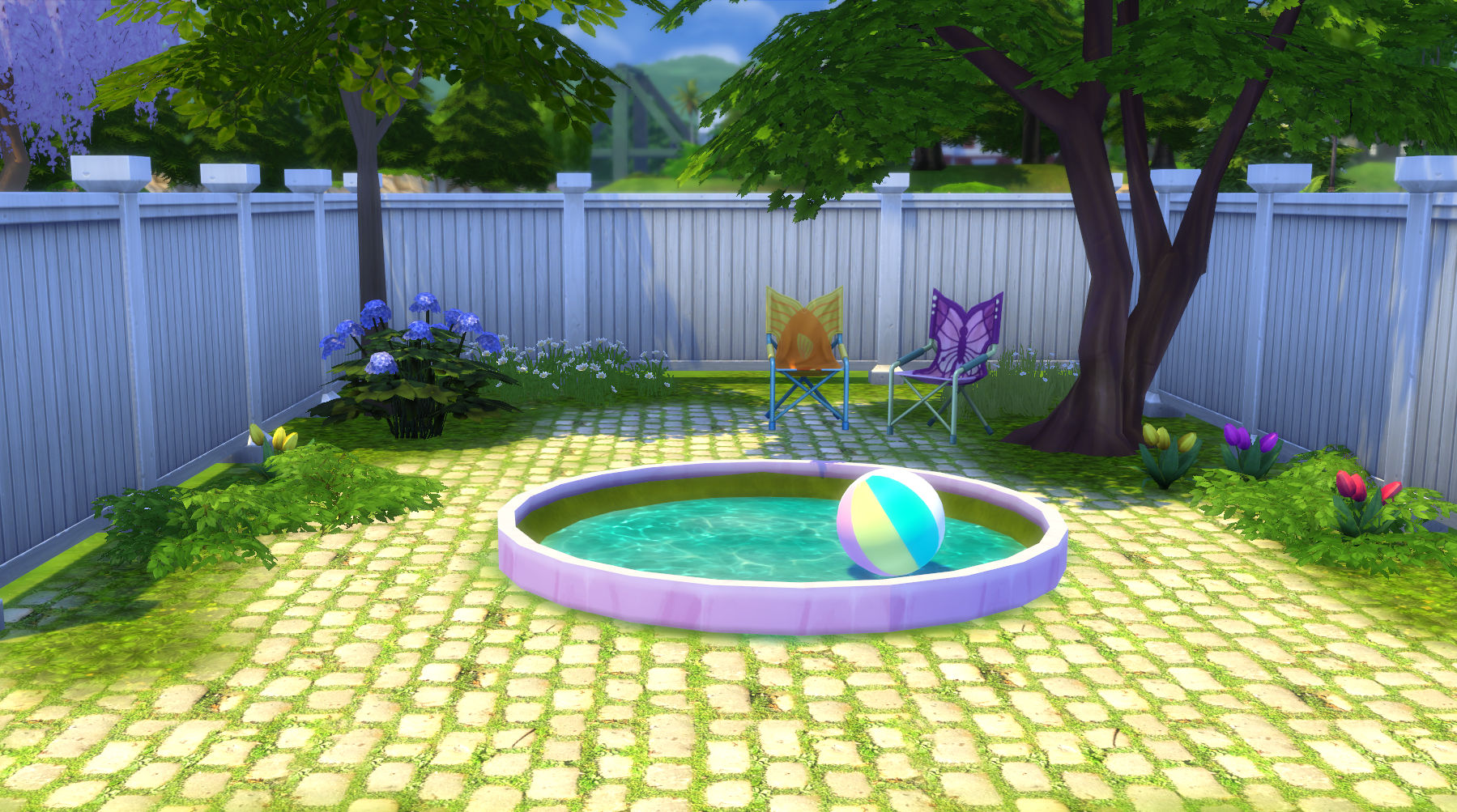 Mod the sims on the curve circular and oval flowerbeds for Pool design sims 4