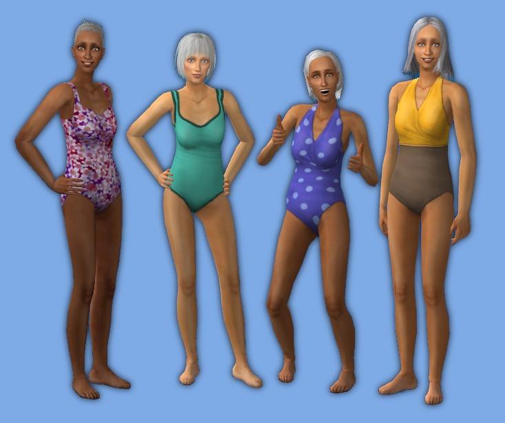 Swimsuit granny Meet Sports
