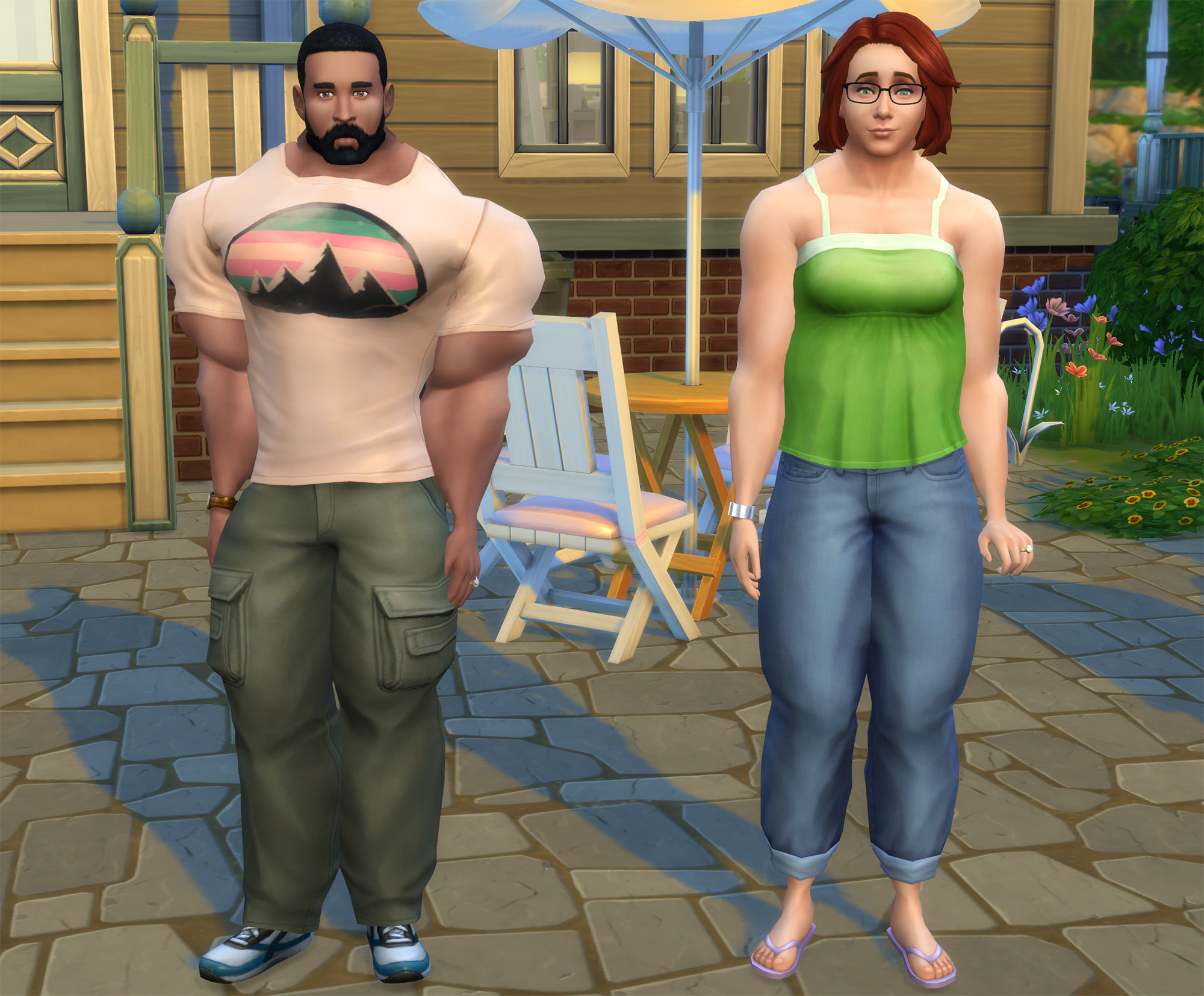 can a fat sim get skinny sims 4