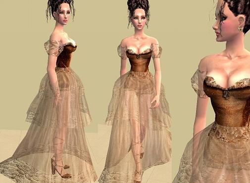Mod The Sims Medieval Fantasy Xina Transparent Ballgown