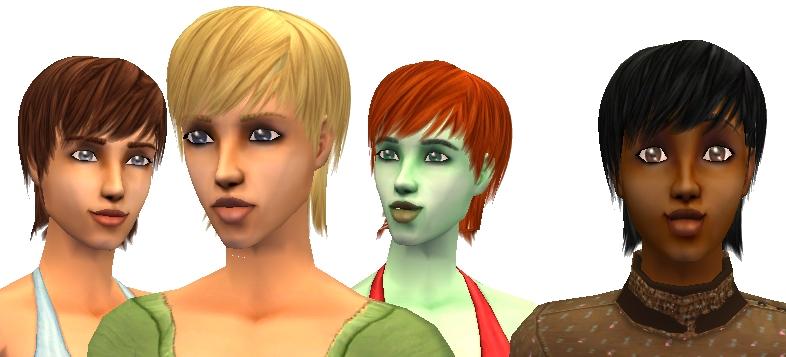 Mod The Sims Short Hair Maxis Match Recolours