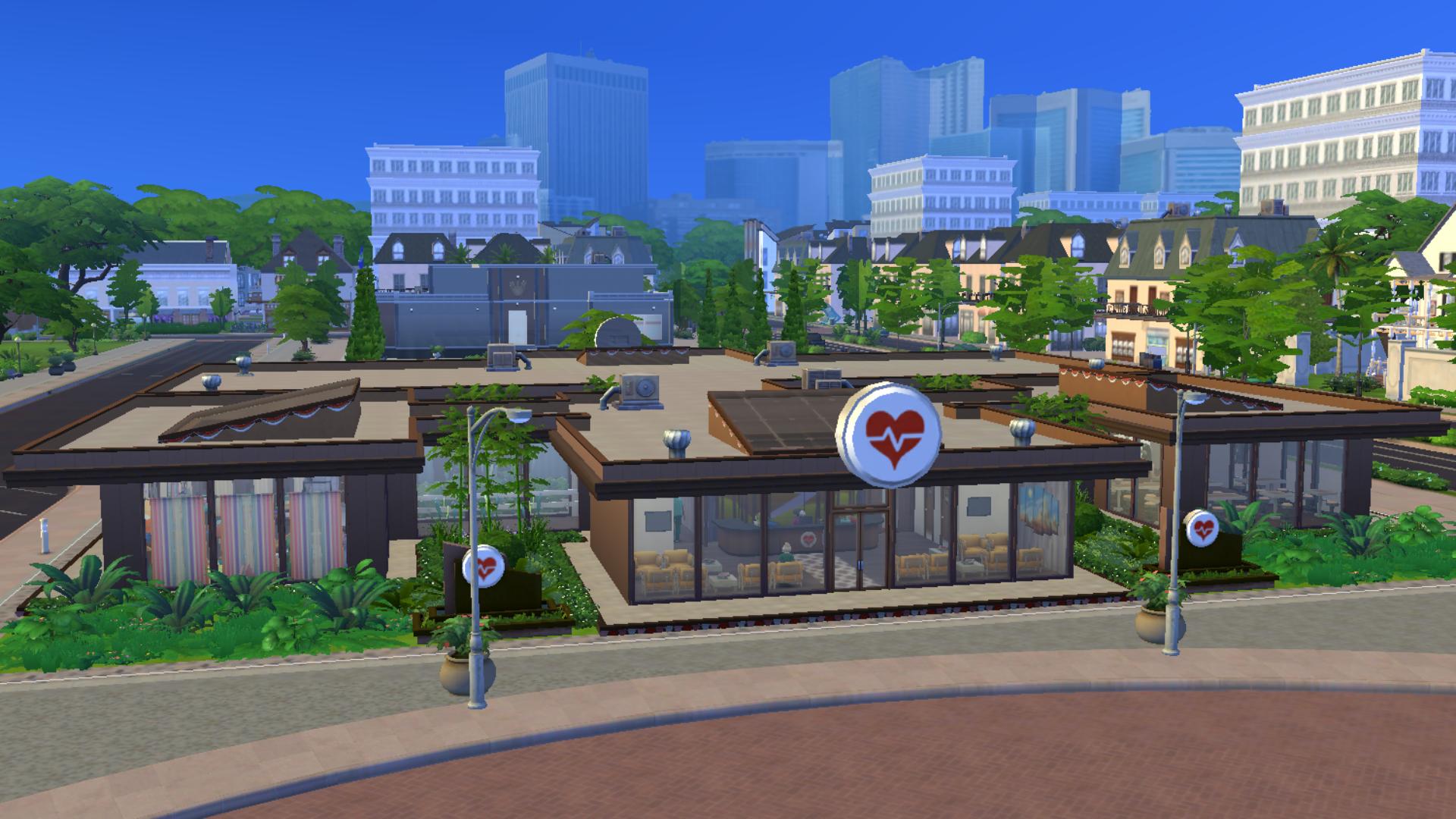Sims 4 mod hospital by xmathyx