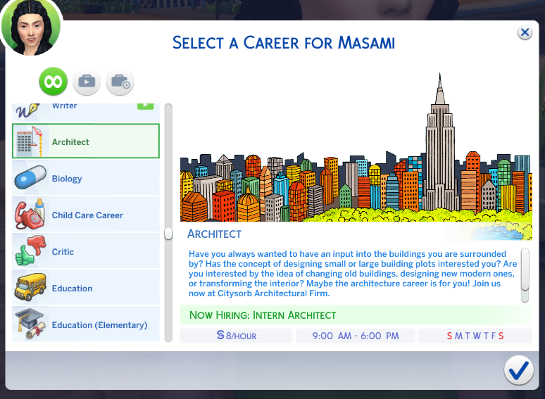 Mod The Sims Architect Career
