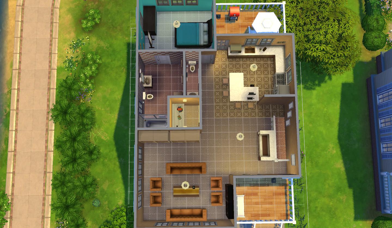 Mod The Sims Hargrove House 4 Bed 4 5 Bath 20x15 Lot