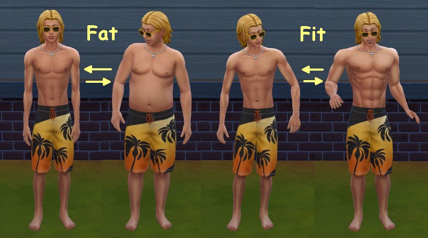 make fat sim skinny sims 4
