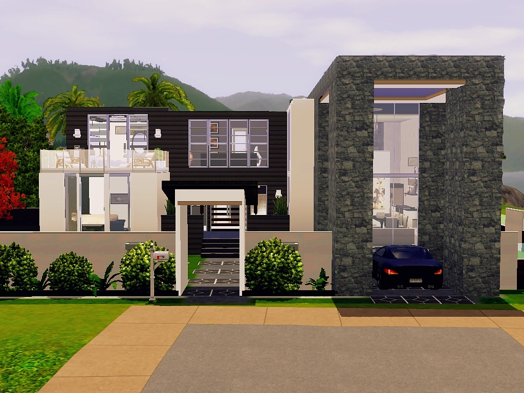 how to build ans awsome house in sims