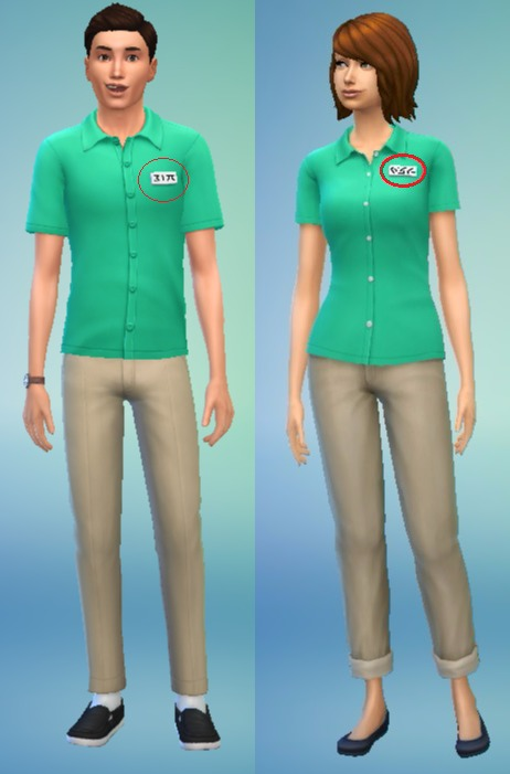 Mod The Sims White Name Tags for Men