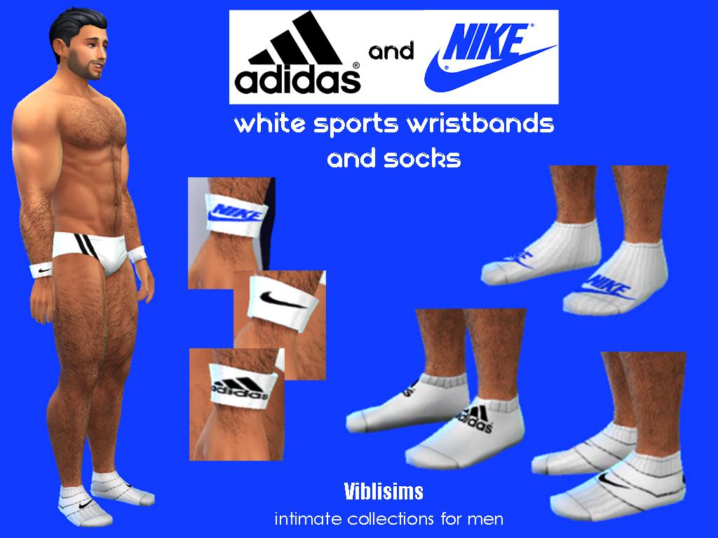 Predecir Persistencia Etapa  Mod The Sims - Sports Wristbands and Socks ADIDAS and NIKE