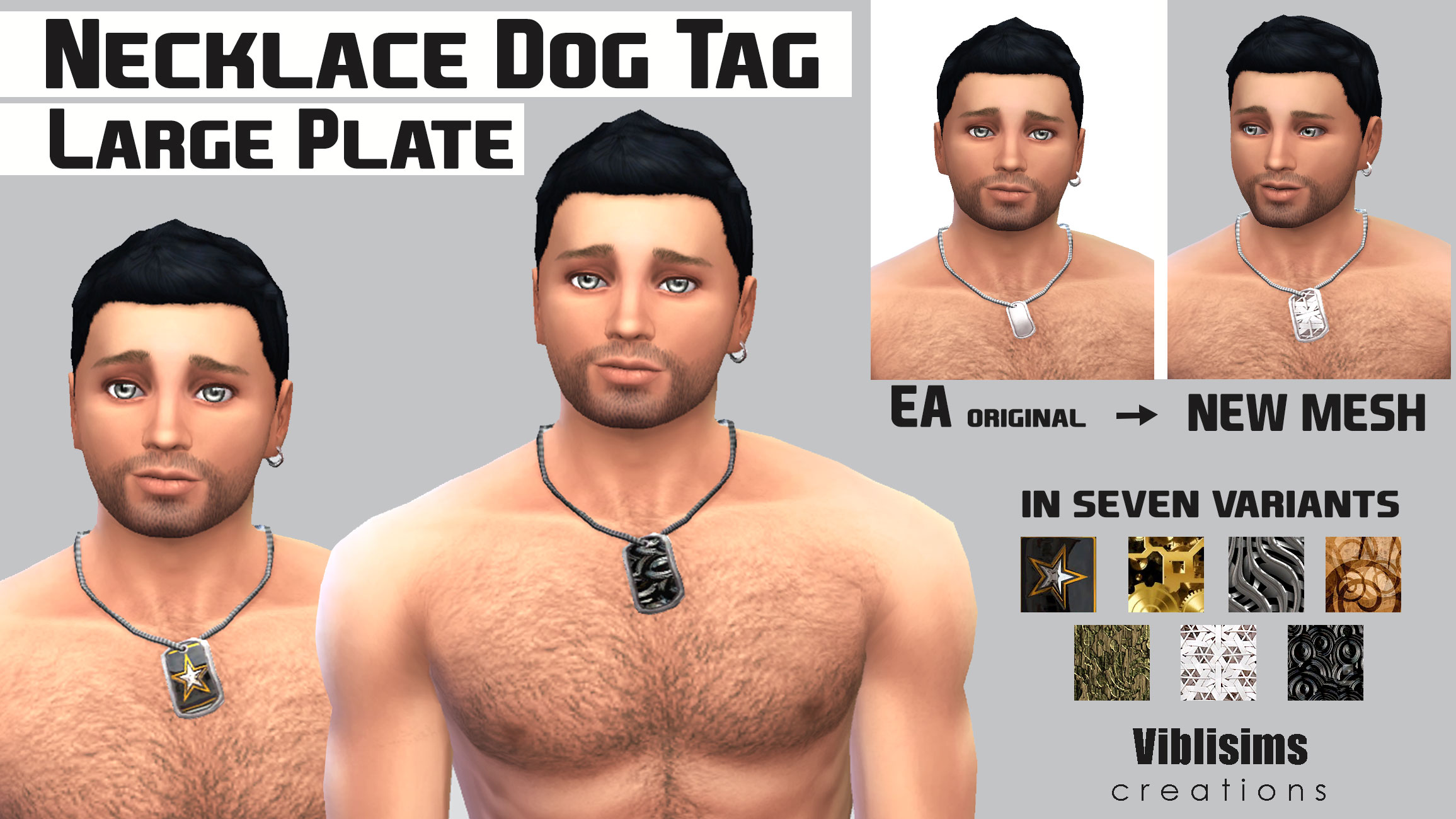 Mod The Sims Necklace Dog Tag Large plate