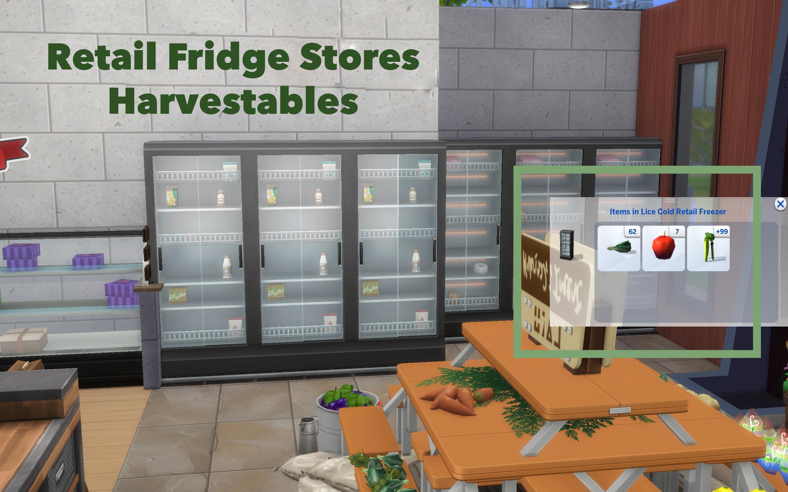 Mod The Sims   Retail Fridge Holds Harvestables