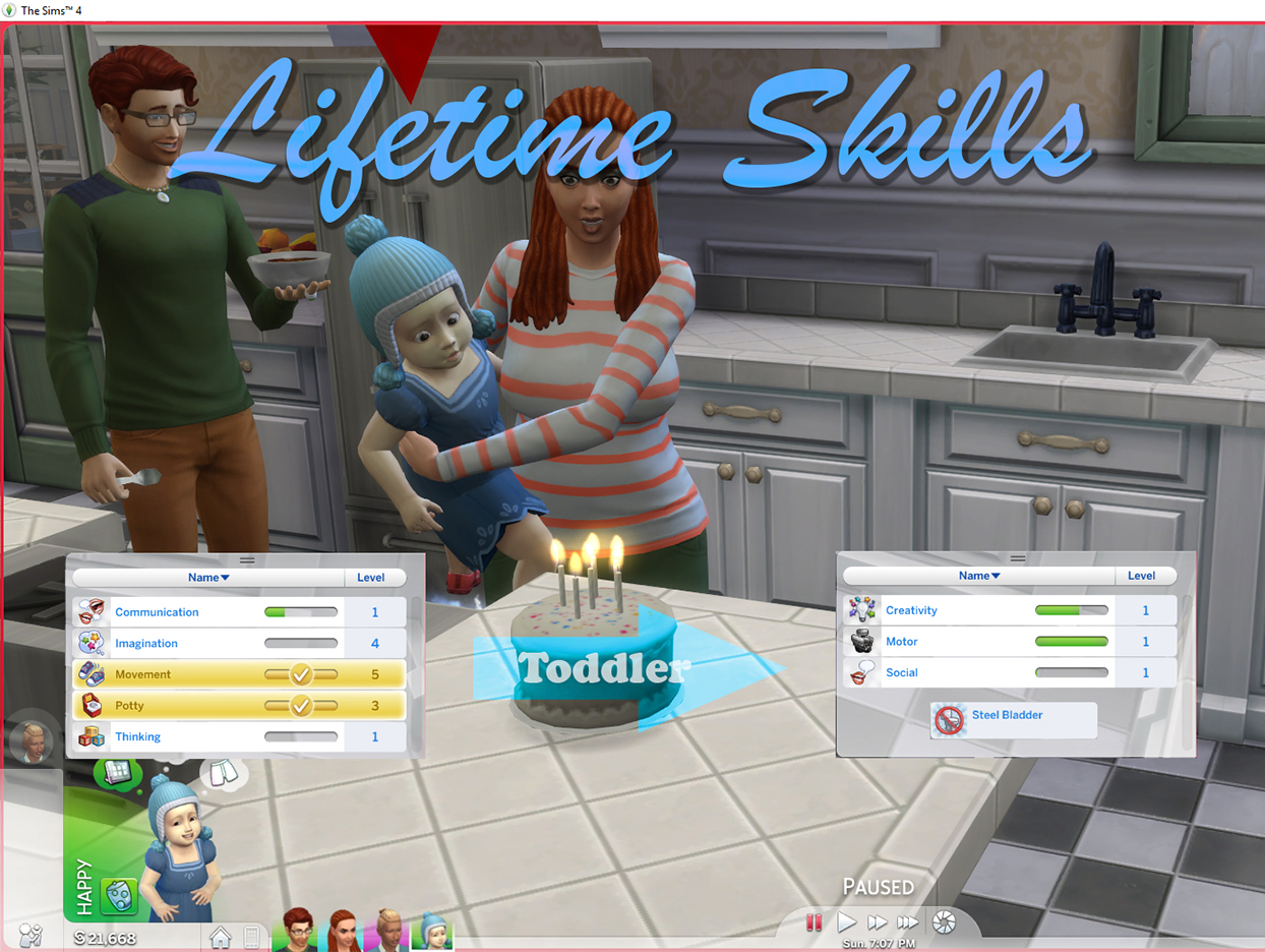 Mod The Sims - Lifetime Skills: Toddler and Child Skills that ...