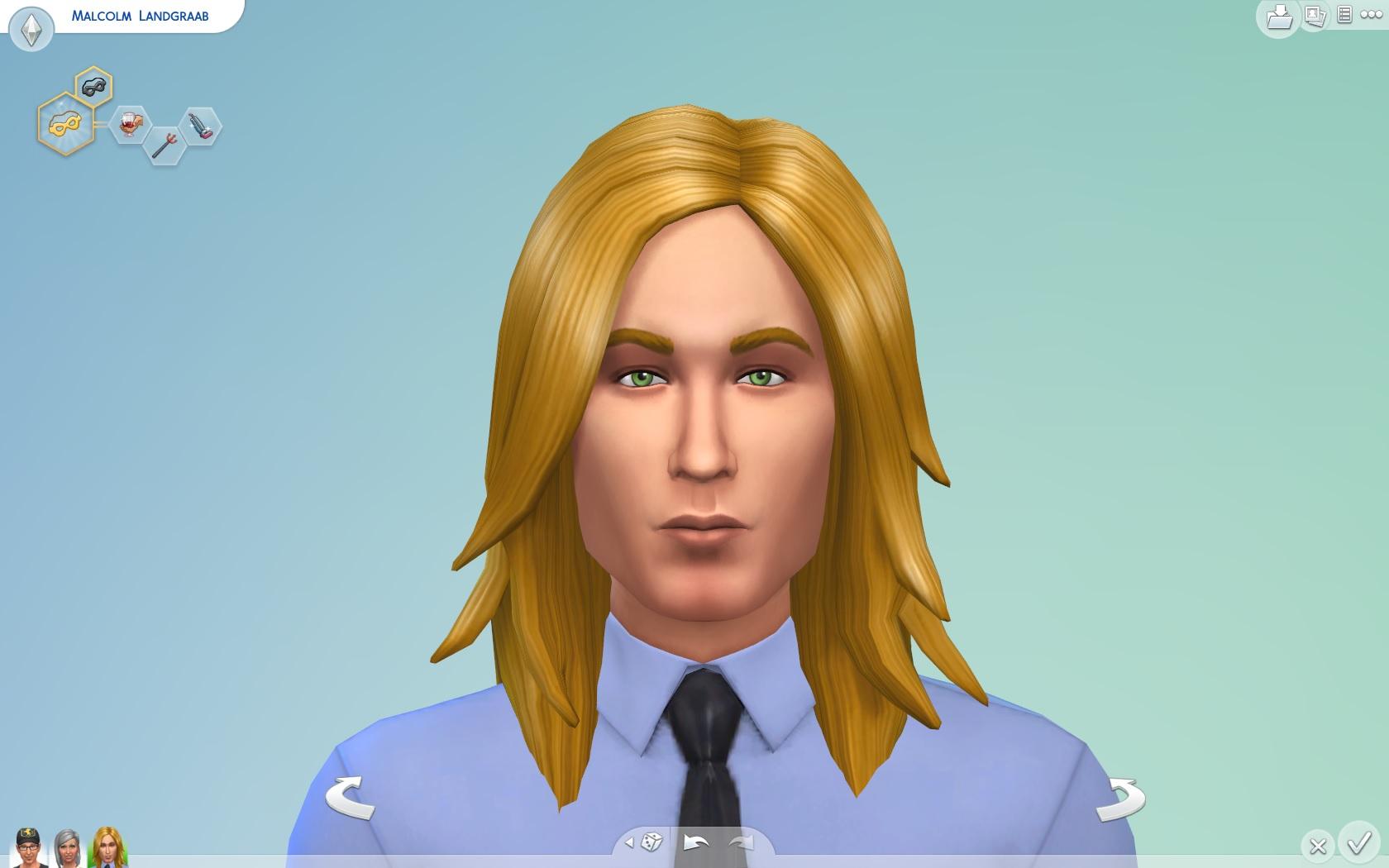 Mod The Sims Long Rocker Hair For Men