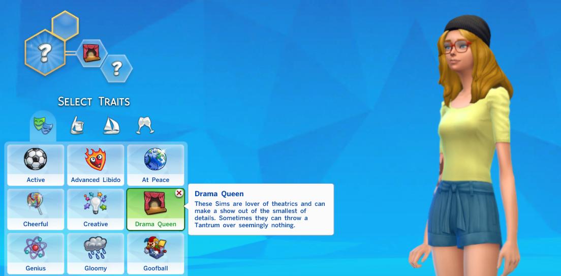 Mod The Sims Drama Queen Trait