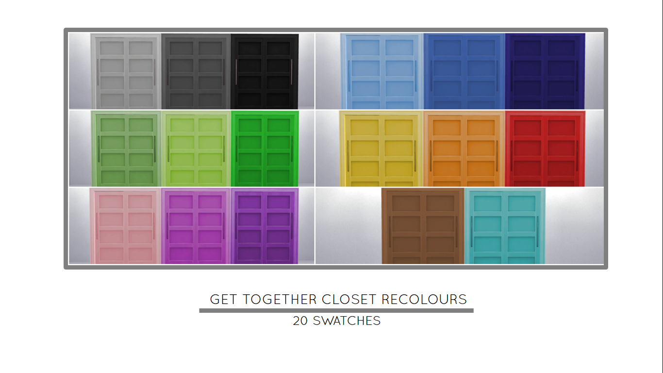 The Best Sims 4 Get Together Closet Cc Pics