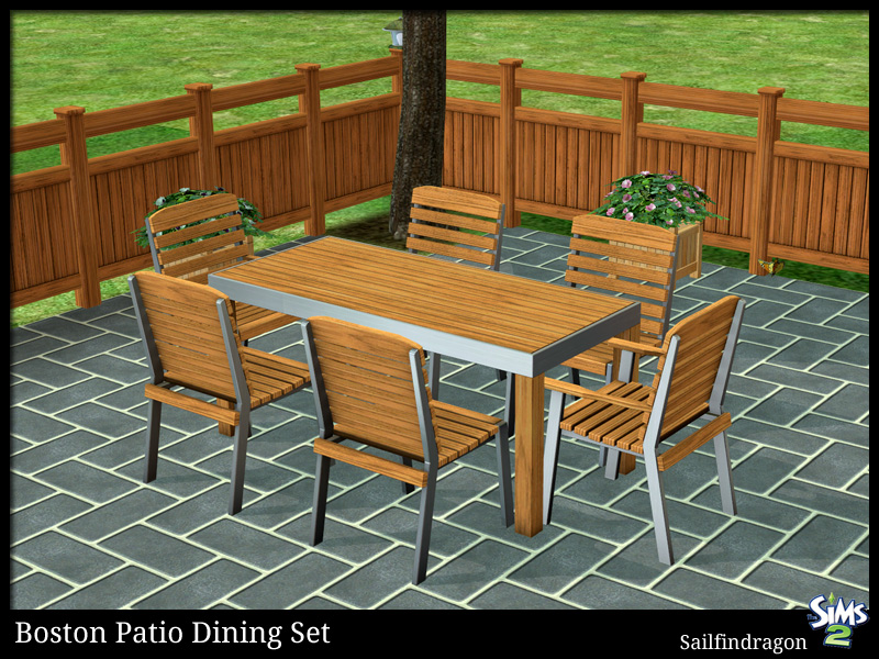 Mod The Sims Boston Patio Dining Set