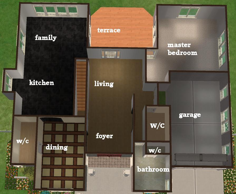Sims 3 4 bedroom house plans home for Sims 3 bedroom designs